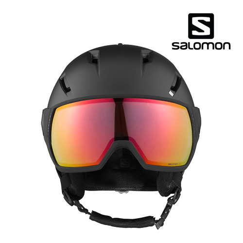 [SALOMON] 20/21 살로몬 PIONEER VISOR PHOTO Blk/Red 스키헬멧 - Black